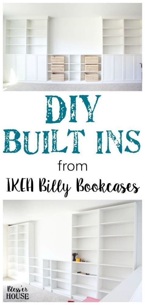 diy built ins from ikea bookcases orc week 2 best