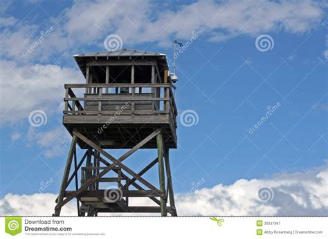 observation tower plans wooden observation tower at beach stock image image