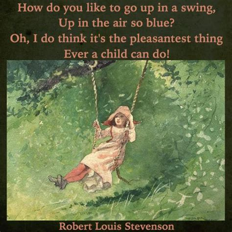 robert louis stevenson the swing the swing robert louis stevenson nice one nana