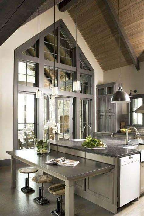 house beautiful ocean inspired kitchen urban grace cuisine industrielle id 233 es d 233 coration cuisine industrielle