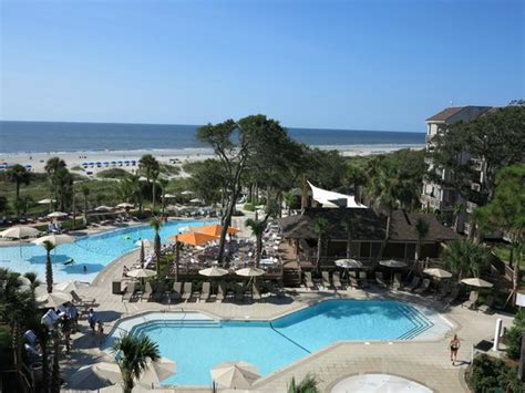 omni hilton head oceanfront resort luxury hilton head beach hotel view from rooms of pool and beach picture of omni hilton