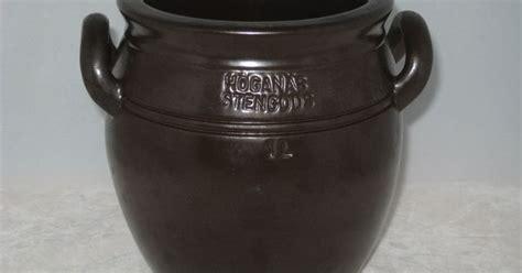 Crock Stoneware Crock Hoganas Keramik Stoneware Sweden Handled