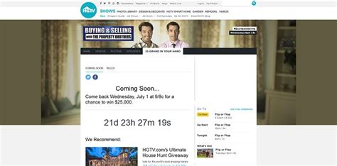 hgtv property brothers sweepstakes code words autos post - Hgtv Property Brothers Sweepstakes