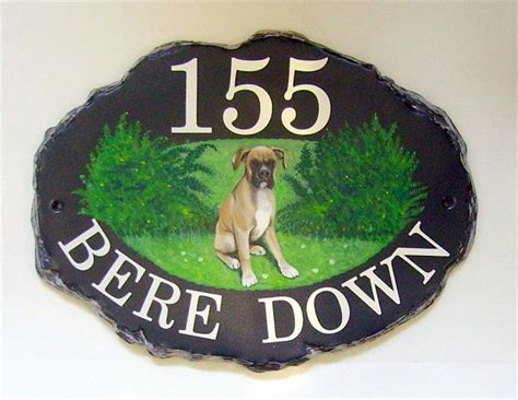 boxer dog house hand painted house signs gallery