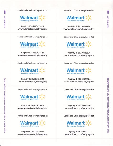 Babyshower Registry Card Template The Bump by Since Walmart Now Requires You To Pay For Registry Inserts
