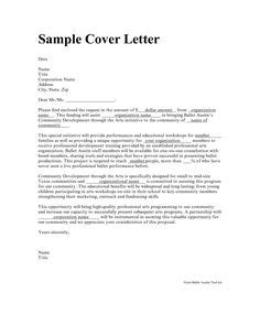 cover letters cover letter sle and letter sle on