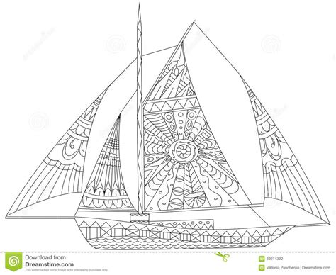 coloring pages for adults boats sailing ship coloring book for adults vector vector