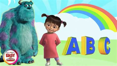 T R U S T learn the alphabet abc with monsters inc boo a b c d e