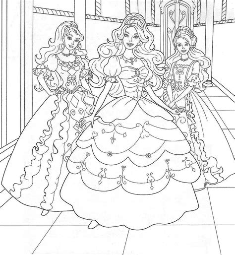 coloring pages of barbie and the secret door барби