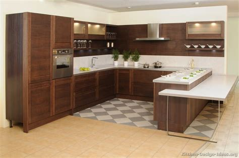 Modern Wood Kitchen Design | pictures of kitchens modern dark wood kitchens