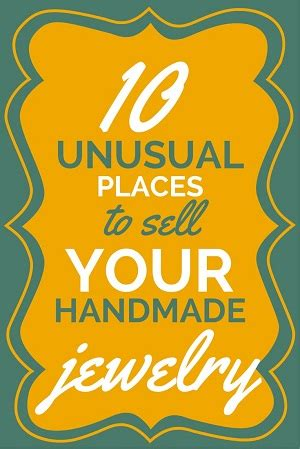Places To Sell Handmade Jewelry - 10 out of the ordinary places to sell your handmade