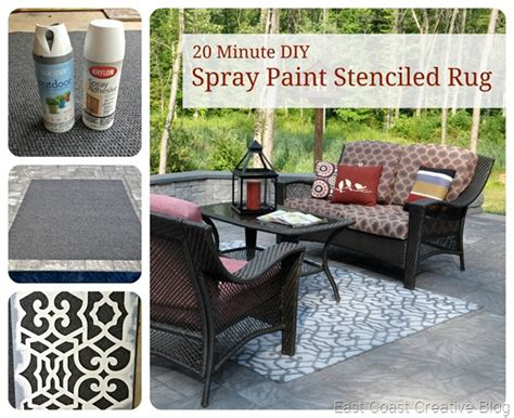 how to paint an outdoor rug stenciled outdoor rug east coast creative