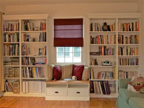 Library Bookcase Plans Library Bookcase Plans With Window Seat House Ideas