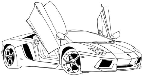 Bugatti Sports Cars Coloring Pages Coloring Pages Sports Car Coloring Page