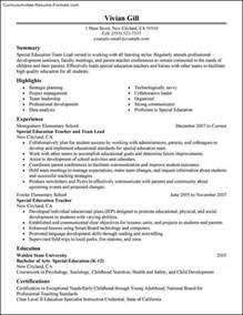 leadership resume template free sles exles
