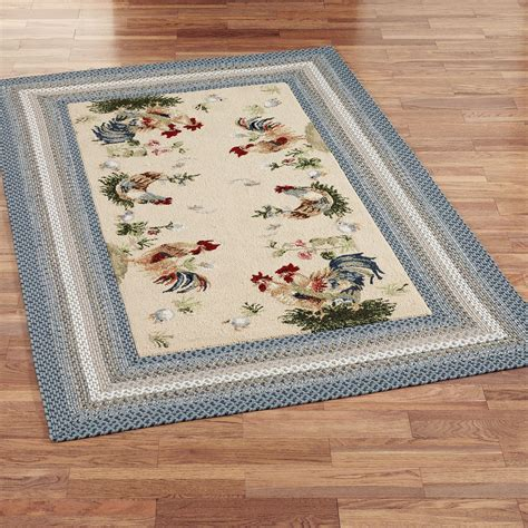 Rooster Kitchen Rugs Rooster Area Rugs Kitchen Rooster And Hens Area Rugs Orian Rooster Braid Area Rug Walmart