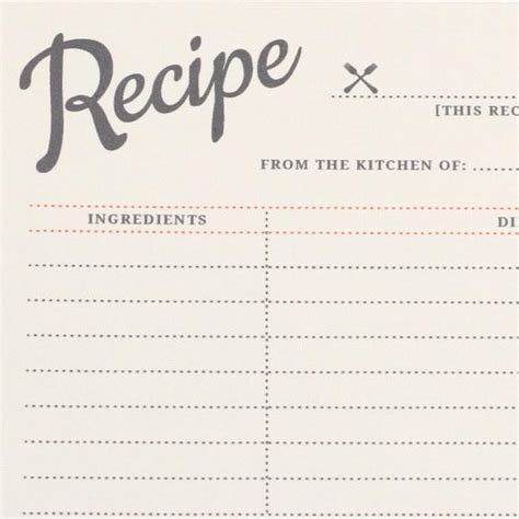 vintage recipe card template vintage recipe cards pdf vs design