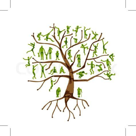 stammbaum verwandten menschen vektorgrafik