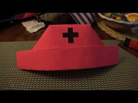 how to fold a nurses hat nurses and hats paper nurse hat youtube