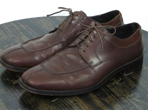 Dress Shoes Cities by Cole Haan City Leather Lace Up Oxford Split Toe Casual Dress Shoes Size 12m Ebay