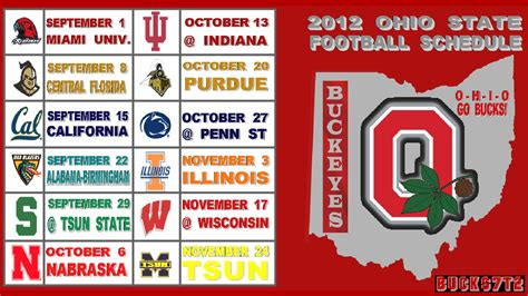 printable schedule ohio state football 2015 ohio state football schedule 2015 printable calendar