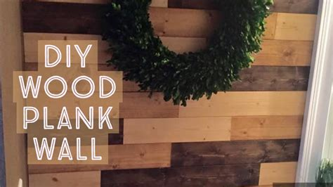 diy wood plank wall install youtube