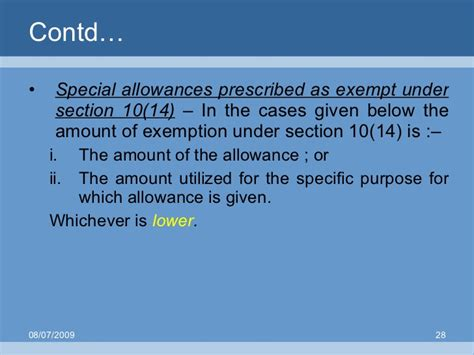 what is exemption under section 10 salary exemption under section 10 28 images exemptions