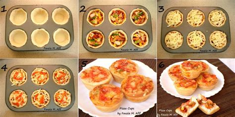 Suing pizza cups step by step fauzia s kitchen fun
