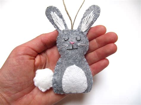 personalized bunny ornament felt bunny by natesmommymadeit