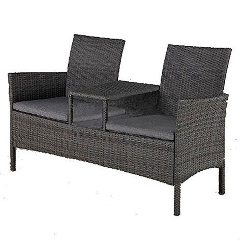 garden bench with table in middle 145 best images about rattan benches on pinterest 2 seater sofa rattan garden