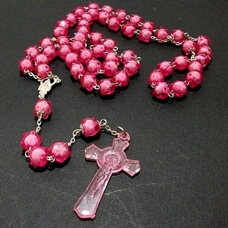Jual Kotak Musik Di Jogja jual rosario akrilik prisma pink ungu merah jogja