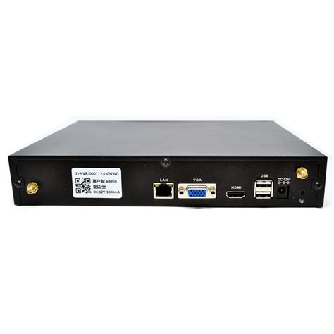 wireless nvr kit 130w hd 4ch with 4 cctv black