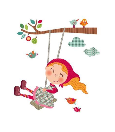 imagenes de niños jugando en un columpio vinilo infantil ni 241 a columpio infantiles pinterest