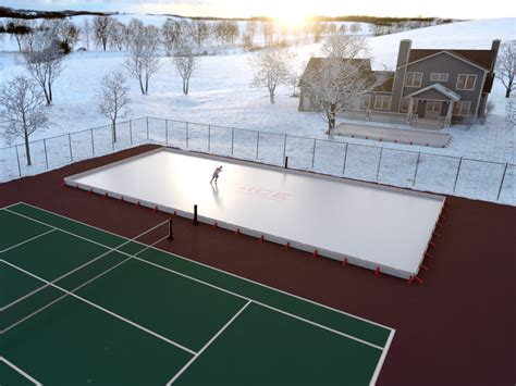 ice rink for backyard ez ice 60 minute backyard ice rink the green head