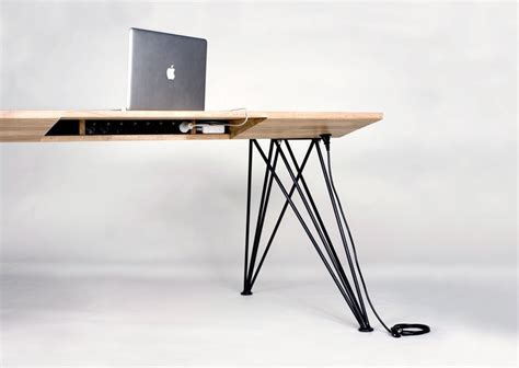 desk with built in power strip pin by josh callaway on for the home pinterest