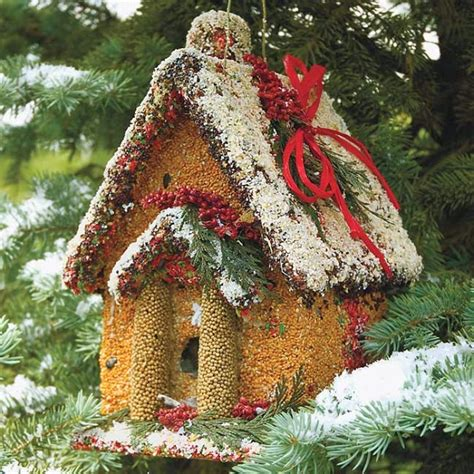 holiday house edible birdhouse handcrafted edible seeded