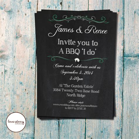 backyard bbq wedding invitations bbq i do wedding invitation casual wedding garden