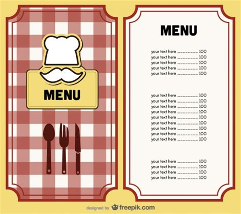 menu book template 8 menu templates excel pdf formats