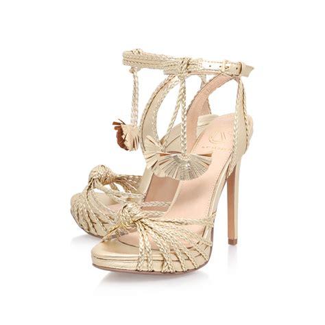 hoax gold high heel sandals by kg kurt geiger kurt geiger