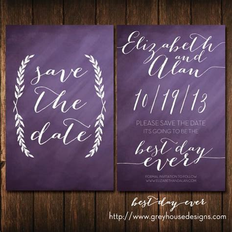 Best Day Ever #Printable #Wedding #Save the Date Card in