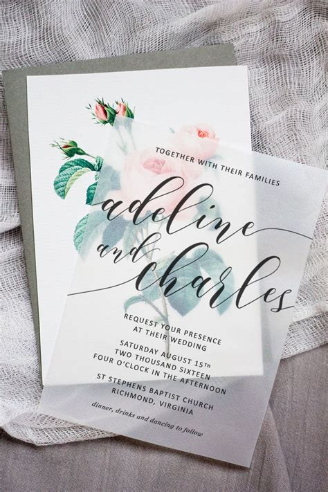 How To Make Vellum Paper - make these sweet floral wedding invitations using nothing