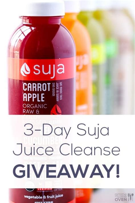 Suja Detox Drinks by Suja Juice Cleanse Giveaway Gimme Some Oven