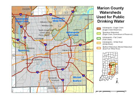 Marion County Records Map Of Marion County Indiana Indiana Map