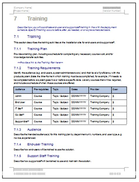 project rollout template deployment plan template 28 page ms word sle