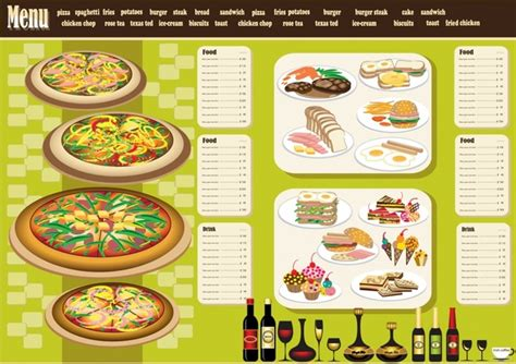 design menu free download restaurant menu design template vector free vector in