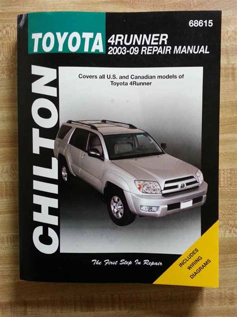 online auto repair manual 2004 toyota 4runner user handbook fs 2003 2009 4runner 4th gen chilton haynes repair