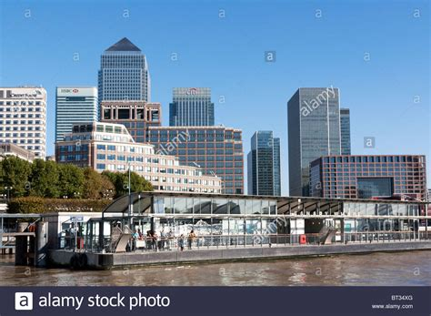 bus canary wharf stock photos bus canary wharf stock canary wharf pier london stock photo royalty free image
