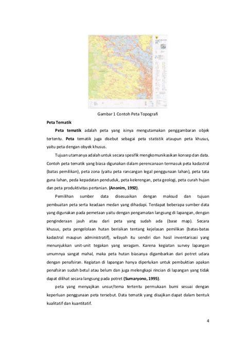 Laporan Layout Peta Tematik   laporan kartografi digital