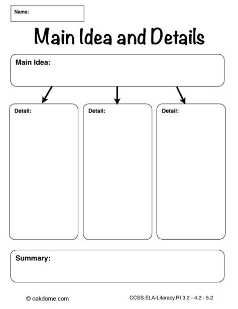 idea organizer ipad graphic organizer main idea and details plain