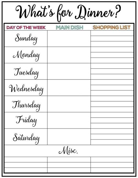 17 best ideas about weekly meal plans on